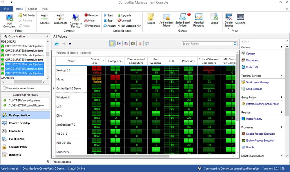 ControlUP 7.1 Outil de Monitoring